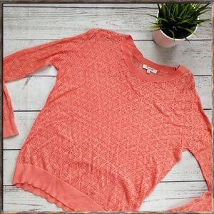 MADEWELL Studio Sweater Diamond Stitch Coral XS